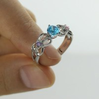 Customised Infinity Promise Ring With Name Birthstone for ...