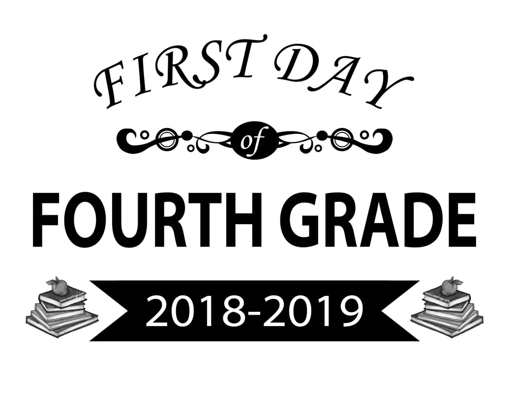 Free Printable First & Last Day of School Signs 2018-2019