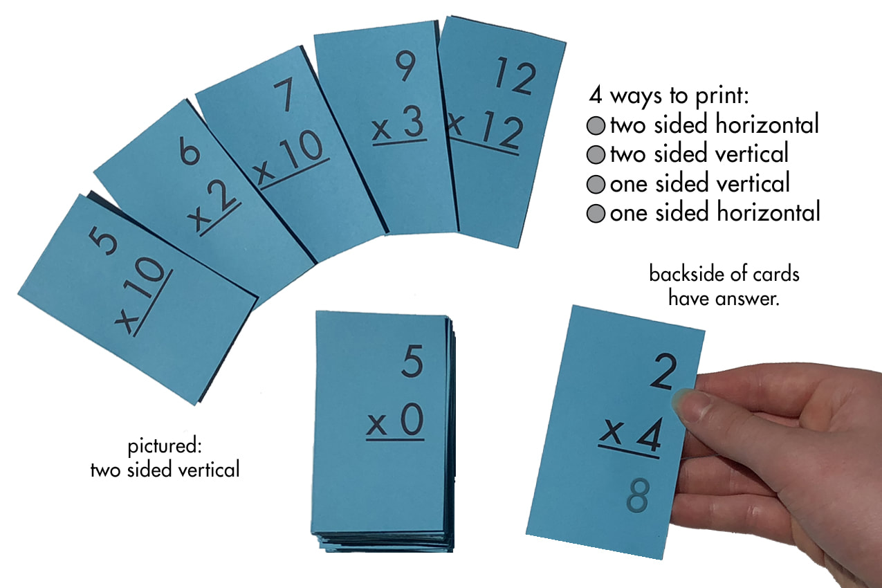 Multiplication 0 12 All Facts Flash Cards Plus Free Multiplication Facts Sheet Printables