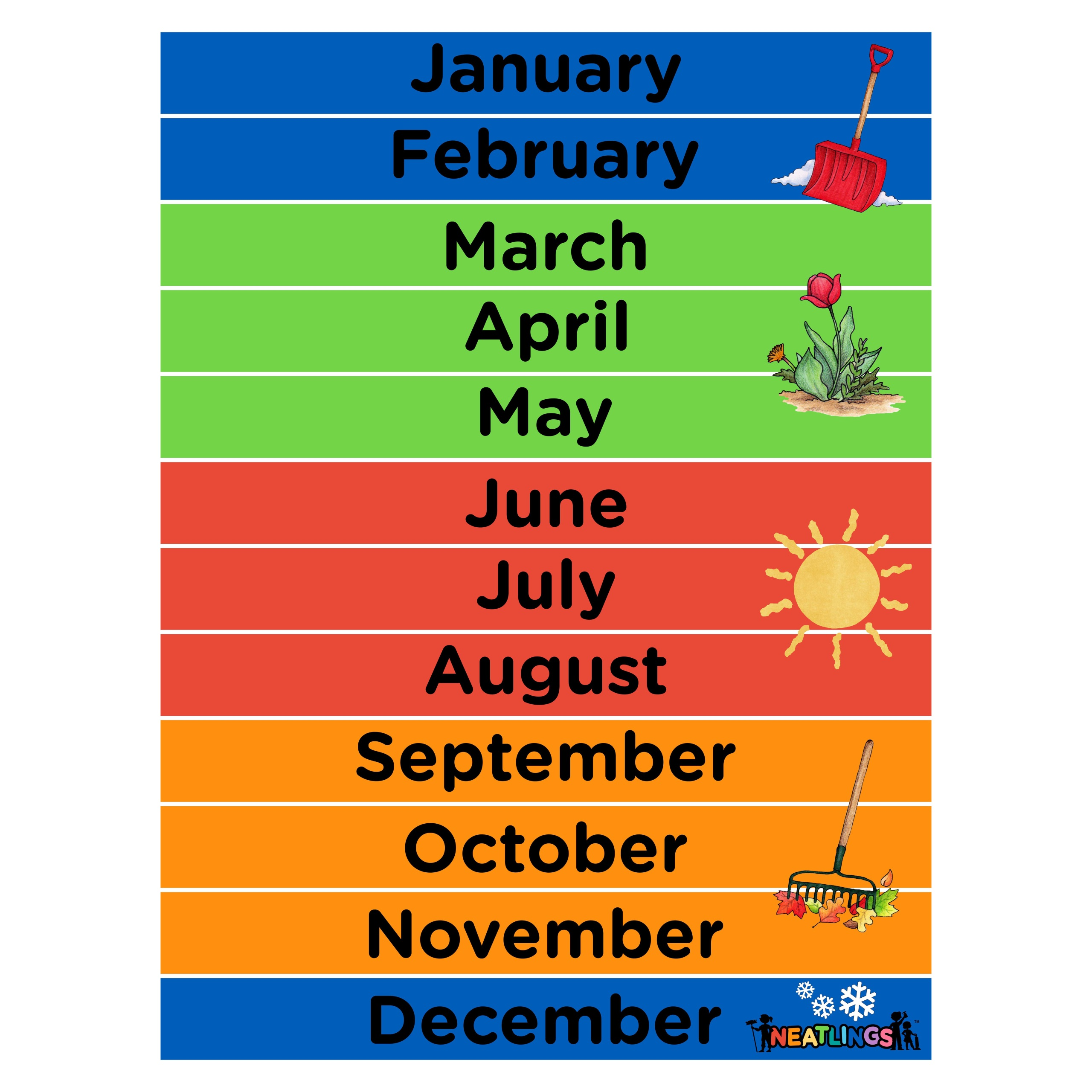 Months Of The Year Calendar For Kids