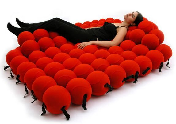 unusual chair beds desk images weird bed consists of 120 soft balls neatorama