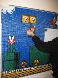 Push Pin Mario Wall Art - Neatorama