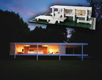 LEGO Farnsworth House  Neatorama