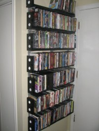 DVD Rack Made from VHS Cassettes - Neatorama