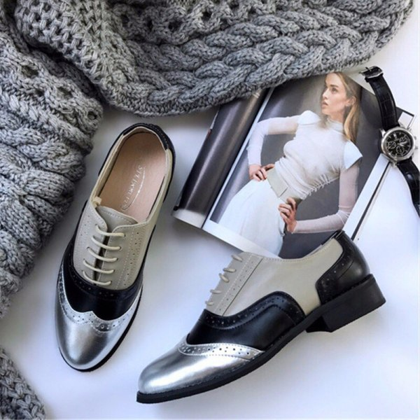Women Oxford Flat Genuine Leather 3