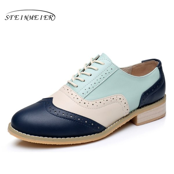 Women Oxford Flat Genuine Leather 12