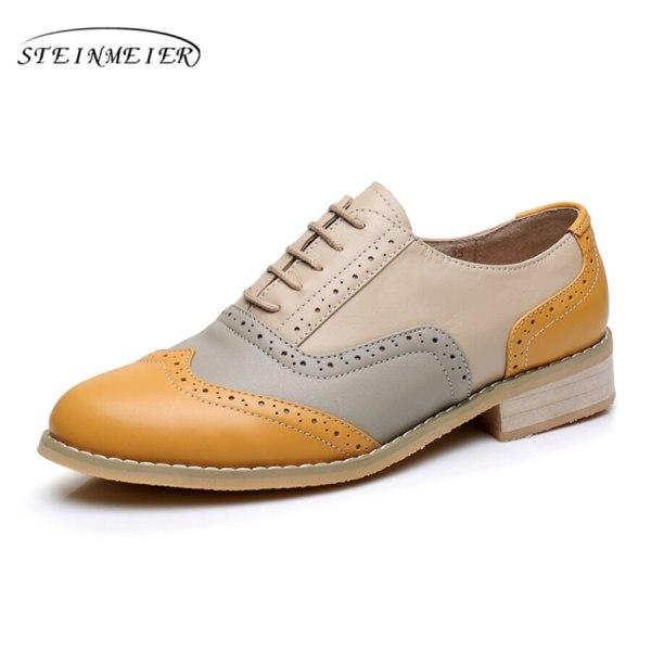 Women Oxford Flat Genuine Leather 14