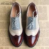 Women Oxford Flat Genuine Leather