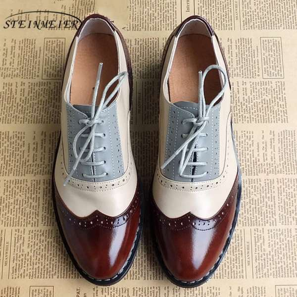 Women Oxford Flat Genuine Leather 1