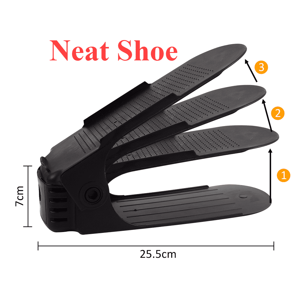 10pcs Adjustable Neat Shoe Rack Organizer