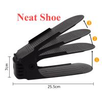 10pcs Adjustable Neat Shoe Rack Organizer