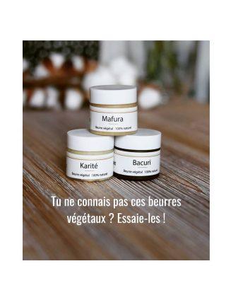 ☘🔥 Le kit pour découvrir les beurres végétaux non raffinés Nebiance:  ▪Karité du Mali ( né ka Maliba ❤ ) ▪Mafura du Mozambique  ▪Bacuri d'Amazonie En contenance de 50g, parfaite pour les découvertes ou offrir, avec le pochon en coton.  👉 Tous les bienfaits sur le site www.nebiance.com . . . #nebiance #beautenaturelle #produitsnaturels #cheveuxbouclés #cheveuxcrépus #cosmetiquenaturelle #problemedepeau #cosmetiquesmaison #karite #karité #beurredekarité #beurredekaritébrut #mafura #bacuri #beurrecorporel #belleaunaturel #peauparfaite #cheveuxlongs #poussedescheveux
