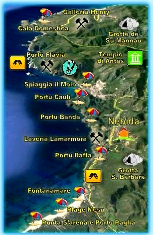 Affito case vacanza in Sardegna a Nebida nel mare iglesiente natura e relax