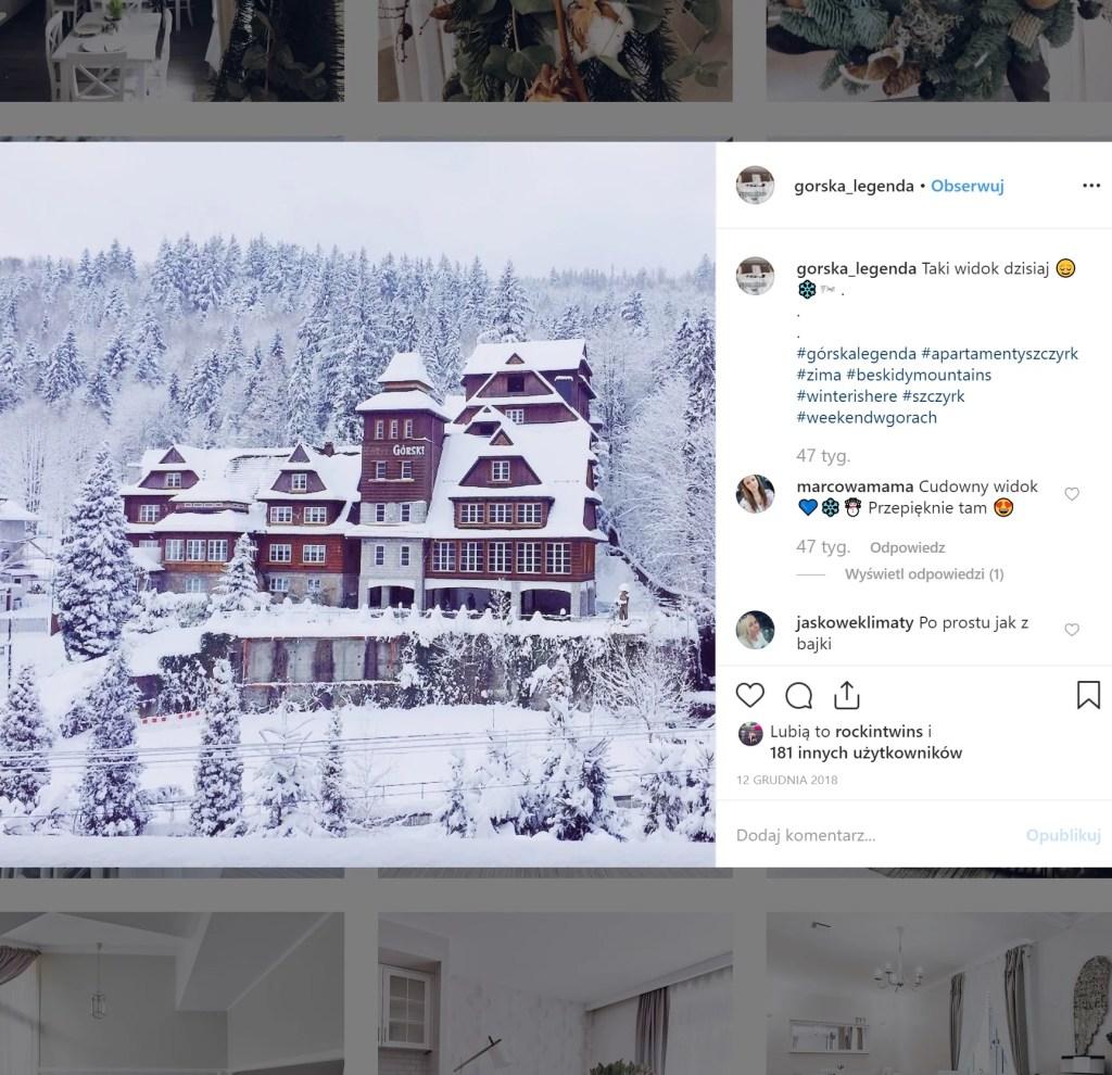 Apartamenty Górska Legenda w ferie zimowe