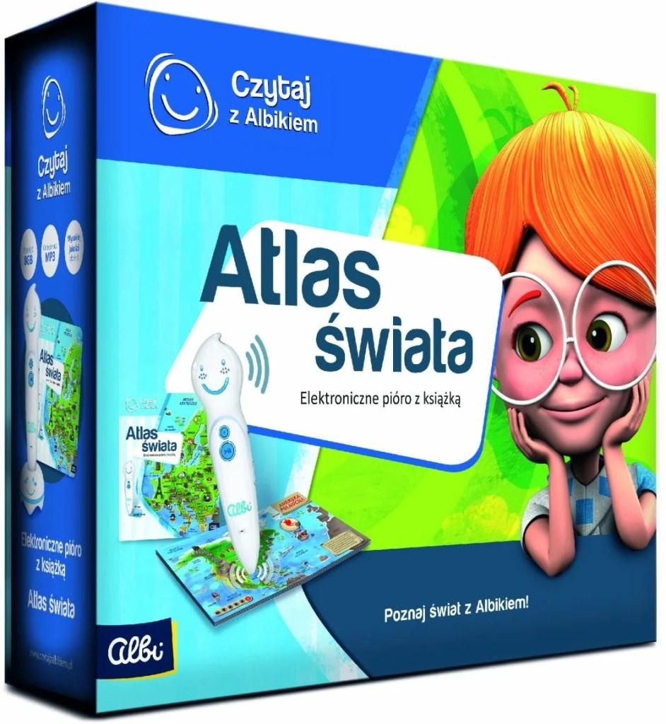 atlas świata z elektronicznym piórem - pudełko