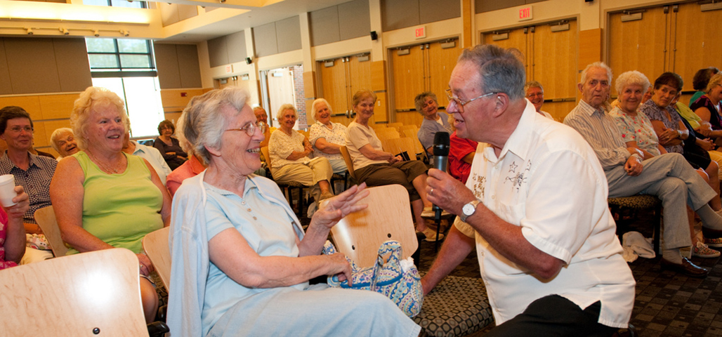 """A room filled with'Life Long Learners"""" (many seniors)"""