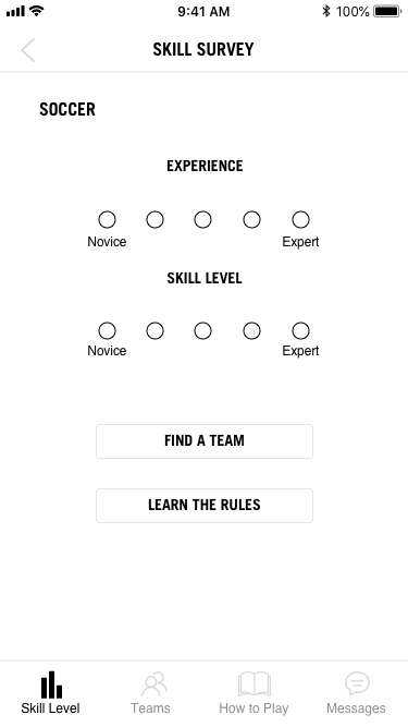 Huddle soccer survey