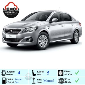 Keçiören rent a car Peugeot 301