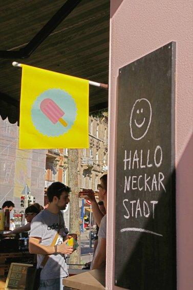 """Hallo Kiosk"", grüßt die Neckarstadt zurück | Foto: Neckarstadtblog"