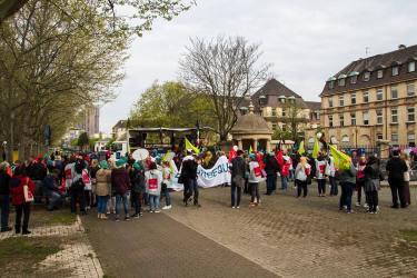 Warnstreik am Uniklinikum im April 2016   Foto: CKI