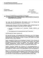 Stellungnahme Polizeirevier Neckarstadt. Stand: 11.05.2016 | Quelle: Bürgerinformationssystem der Stadt Mannheim