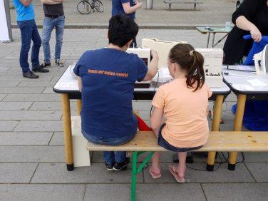 Näh-in auf dem Alten Messplatz  Foto: Neckarstadtblog