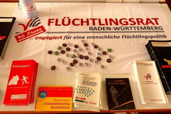 Infomaterial bei der Fachtagung der Linken im Bürgerhaus Neckarstadt-West | Foto: Christian Ratz