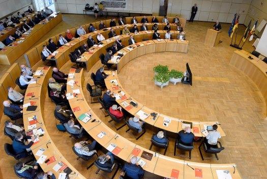Rund 180 Teilnehmer aus ganz Deutschland kamen zum 1. Mannheimer Sicherheitstag im Ratssaal des Stadthauses N1 | Foto: Stadt Mannheim / Thomas Tröster