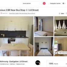 Bis zu 160 Euro pro Nacht: Kein Wohnraum, sondern gewerblich als Airbnb-Ferienwohnungen betrieben | Screenshot: Airbnb