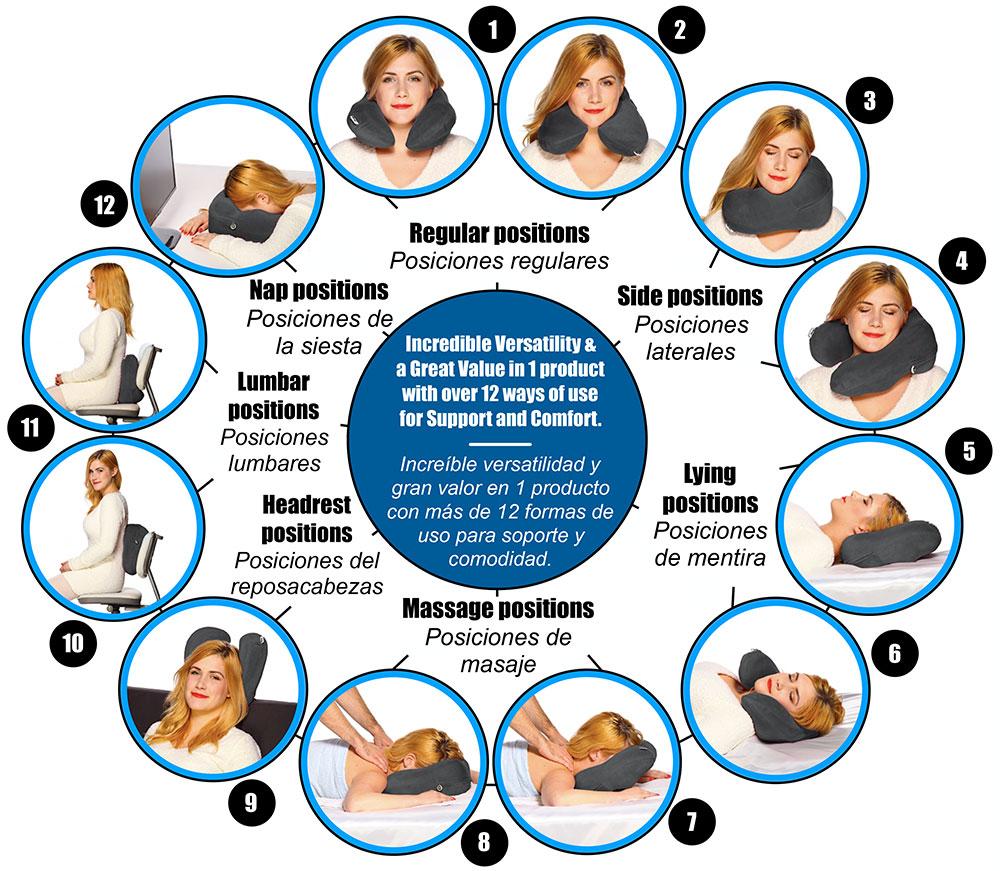 versatile neck pillow with unique