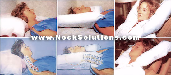 Cervical Support Pillow  Back Side  Stomach Sleeping