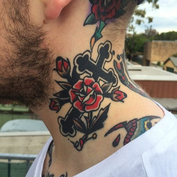 Celtic Knot Rose Tattoo