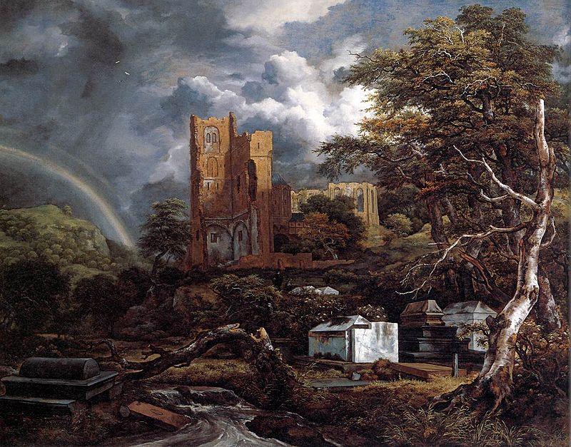 Risultati immagini per quadri di cimitero inglese