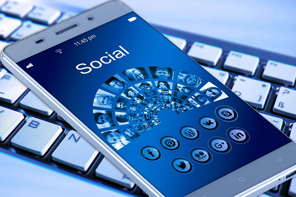 social media on a Smartphone