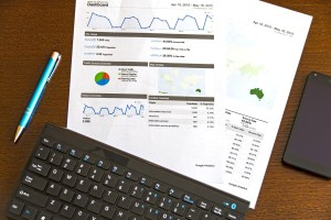 business graph statistics on the table