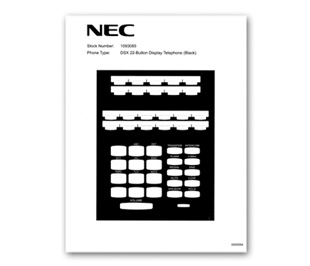 NEC DSX Phone Labels