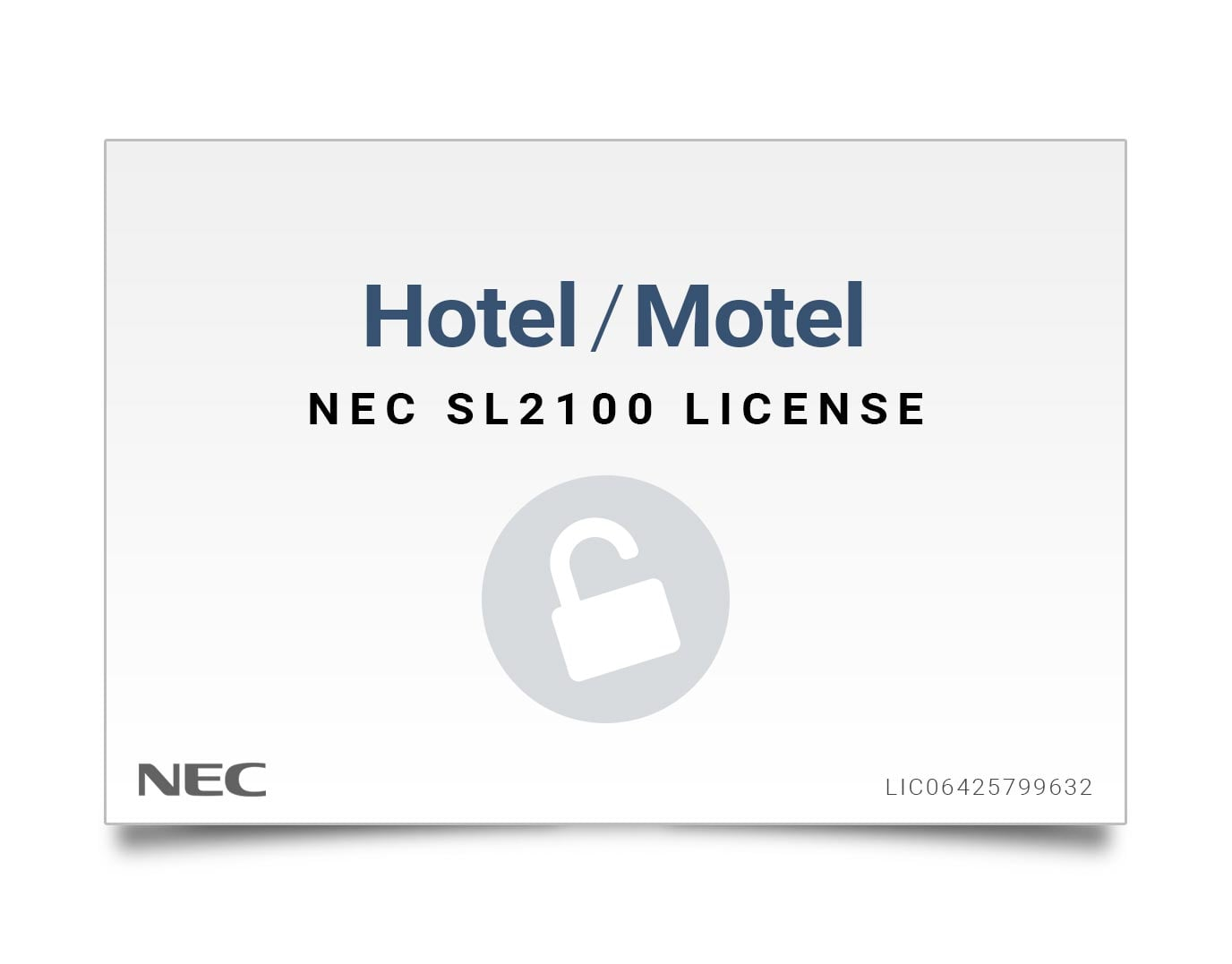 NEC SL2100 Licenses
