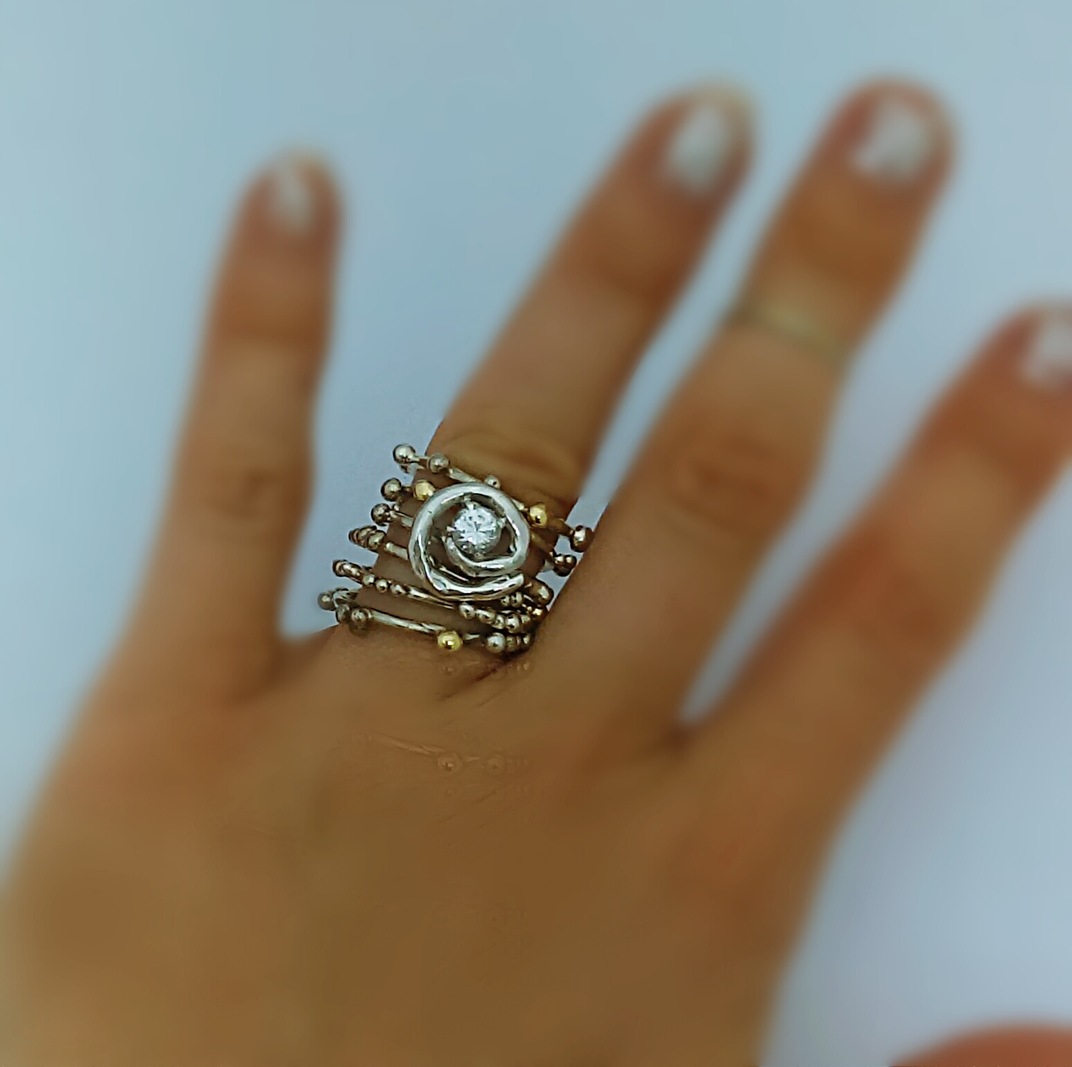 Silver Helix Ring Nectar Jewelry  Handcrafted Custom Jewelry