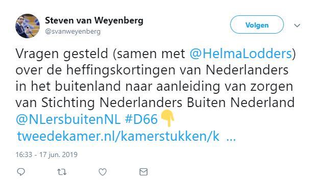 Heffingskorting 2019 Buitenland