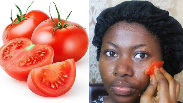 Tomatoes can make oily skin lighter