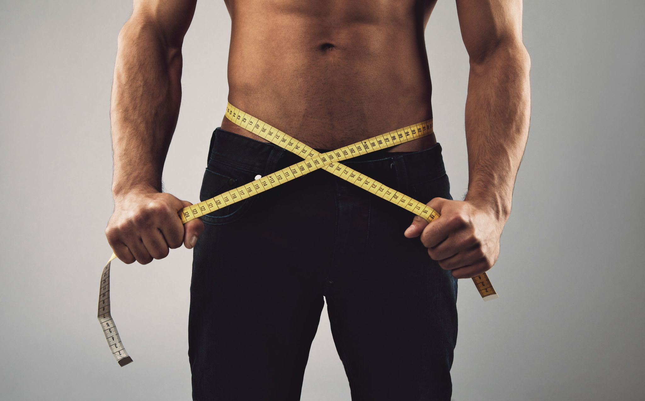 man using fat burners for weight loss