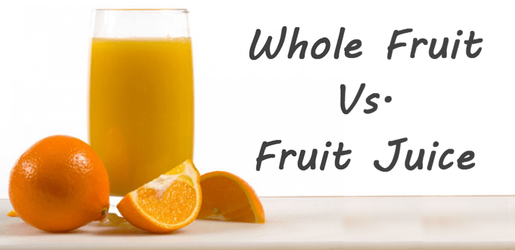 whole fruit and fruit juice