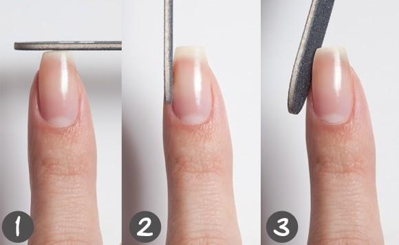 how to file fingernail growing sideways