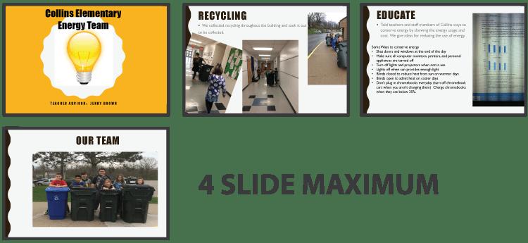 Sample of 4 presentation slides