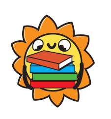 Sun holding a pile of books