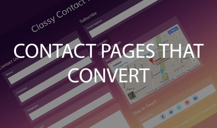 Contact pages that convert