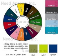 Need Aprons Color Wheel 20 Colors Most Popular Pink Brown ...