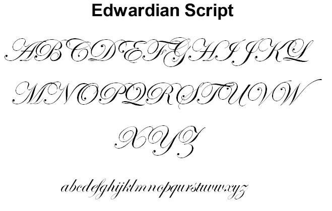 Edward script font download
