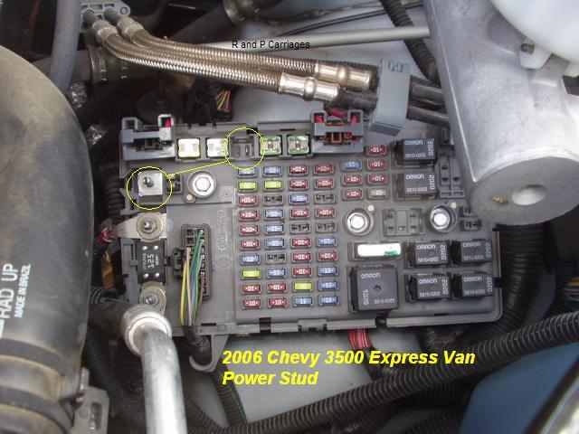 Chevy Express Brake Light Fuse On Chevy Express 3500 Fuse Box Diagram