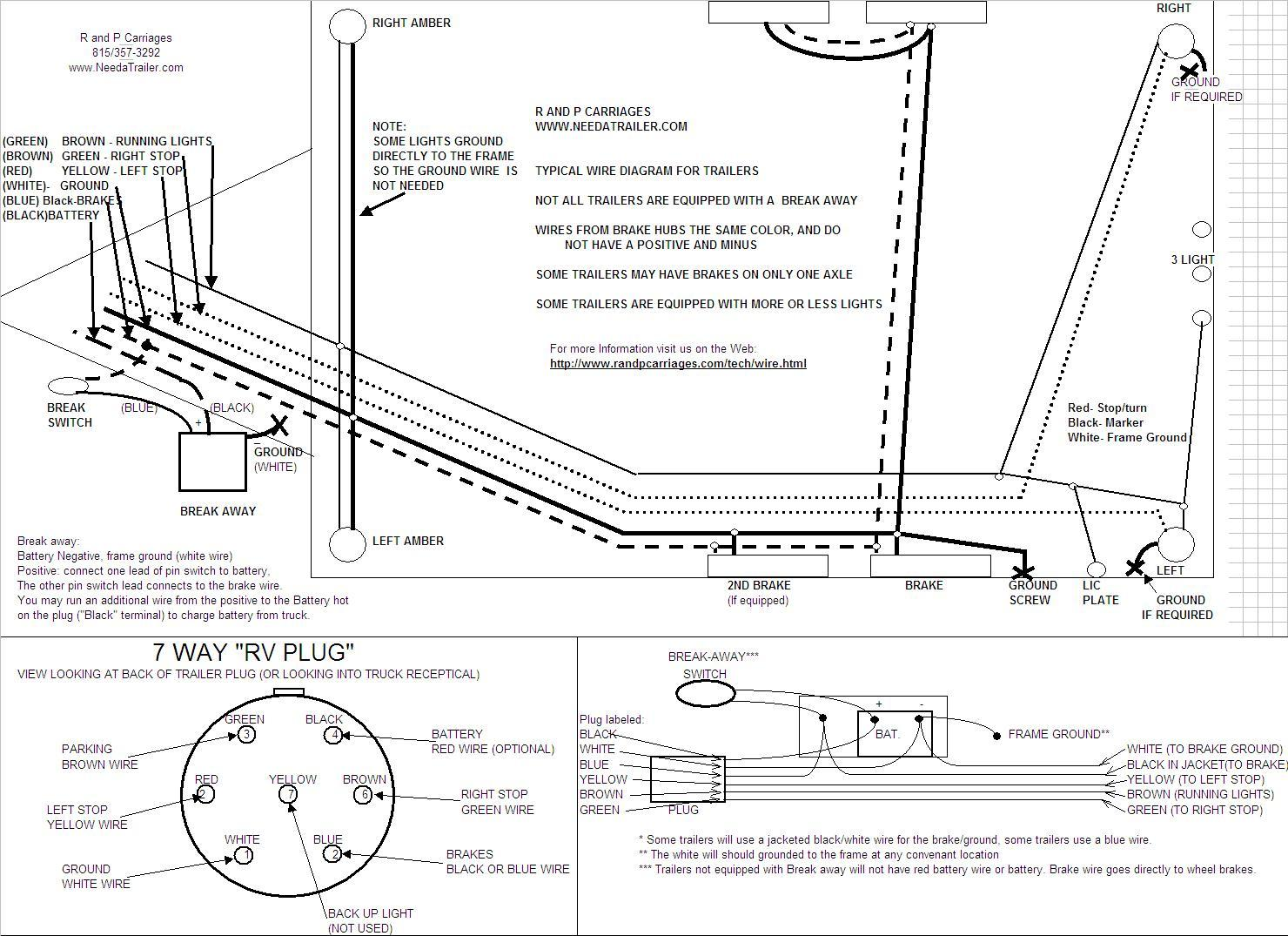 7way trailer wiring diagram tekonsha voyager 9030 brake controller installation instructions